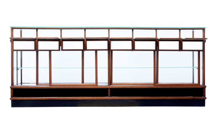 Large Art Deco Scandinavian Teak Haberdashery Shop Cabinet In Good Condition In Debenham, Suffolk