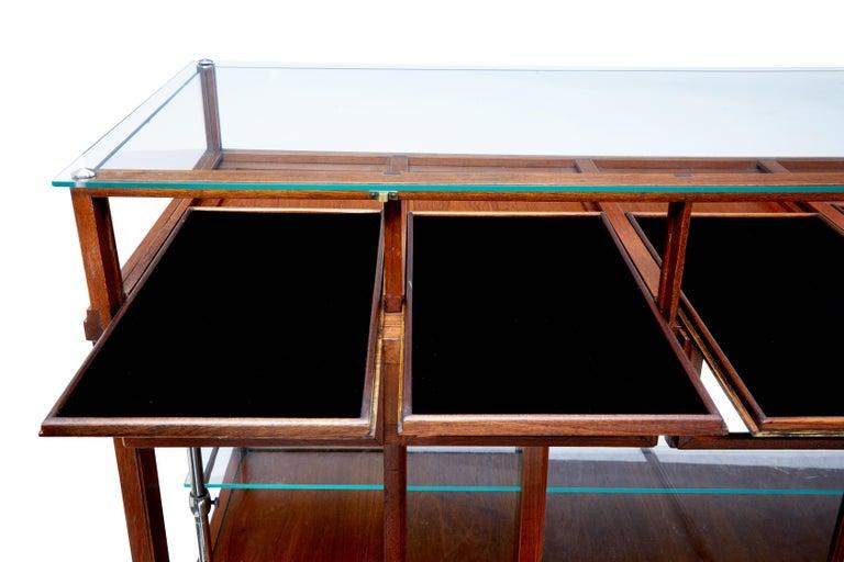Early 20th Century Large Art Deco Scandinavian Teak Haberdashery Shop Cabinet