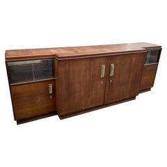 Large Art Deco Sideboard in Walnut, circa 1930