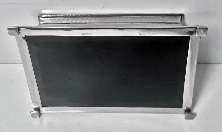 Sterling Silver Large Art Deco Silver Box, Birmingham 1930 William Hutton & Sons. For Sale