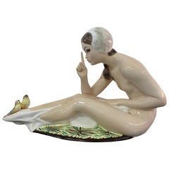 Large Art Deco Statue by Walter Torino, Italy, 1940s