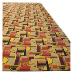 Large Art Deco Style Area Rug