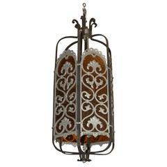 Large Art Deco Style Lantern Light Fixture, Early 20th Century