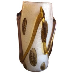 Large Art Glass Vase by Murano