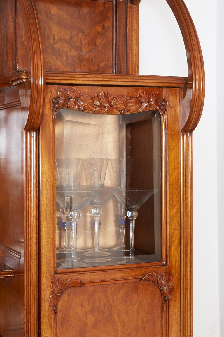 French Large Art Nouveau Cabinet For Sale