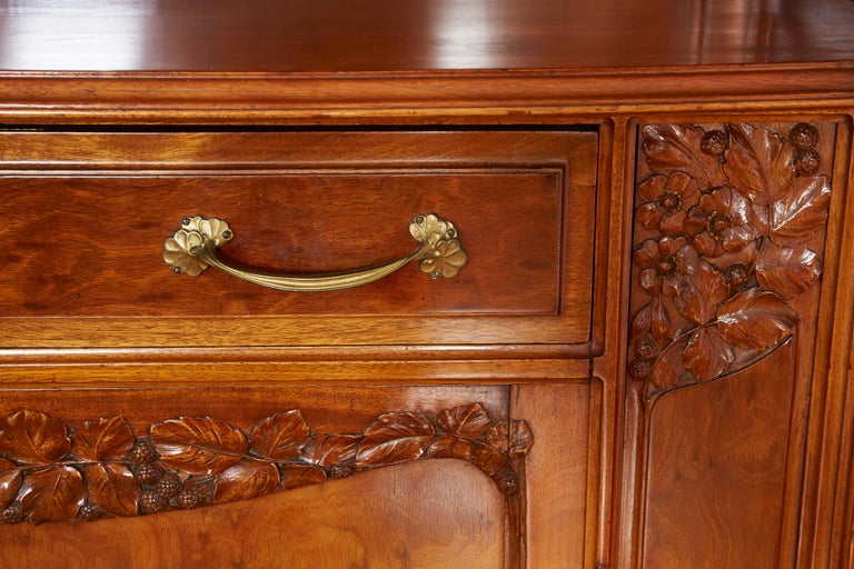 Large Art Nouveau Cabinet In Fair Condition For Sale In Bridgewater, CT