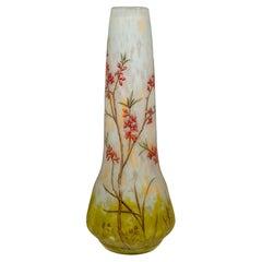 Large Art Nouveau Cameo Vase with Oleander Decor, Daum Nancy, France, 1900/05