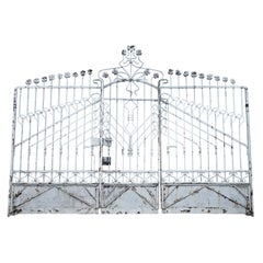 Large Art Nouveau Gate, Early 20th Century
