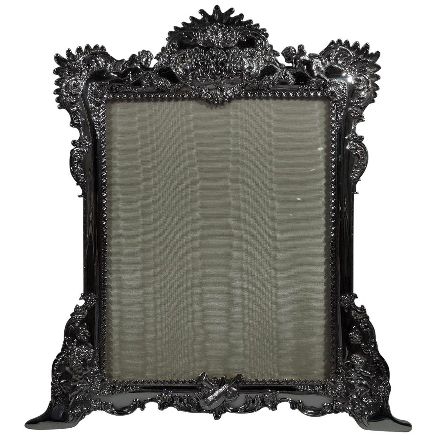 Large Art Nouveau Rococo Sterling Silver Picture Frame By Tiffany And Co For At 1stdibs