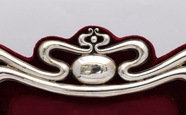 English Large Art Nouveau Sterling Silver Picture Frame by Walker and Hall For Sale