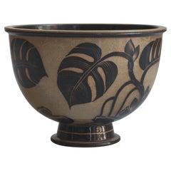 Large Art Nouveau Stoneware Bowl by Nils Thorsson for Royal Copenhagen, 1930s