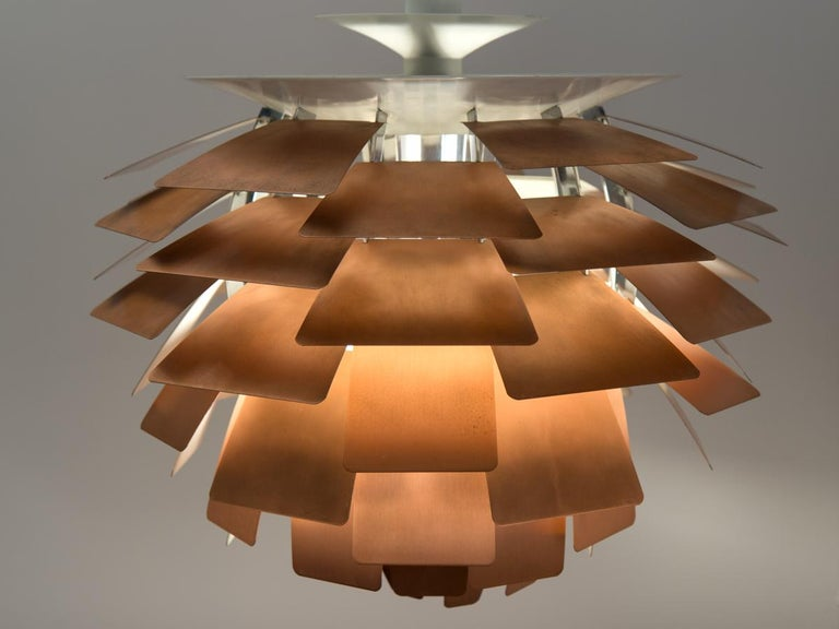 Mid-20th Century Large Artichoke Lamp by Poul Henningsen For Sale