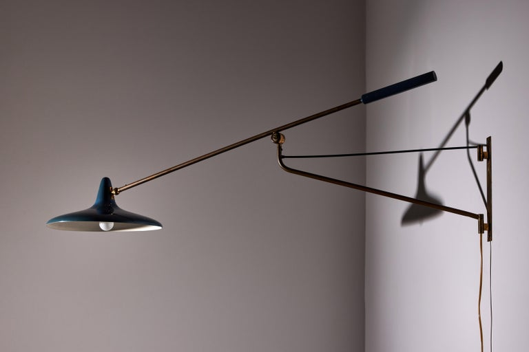 Italian Large Articulating Wall Light by Stilnovo For Sale