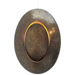 Large Artist's Polished Brass Sconce, France