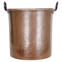 Large Arts & Crafts Copper Log Bin