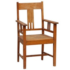 Large Arts & Crafts Caned Armchair