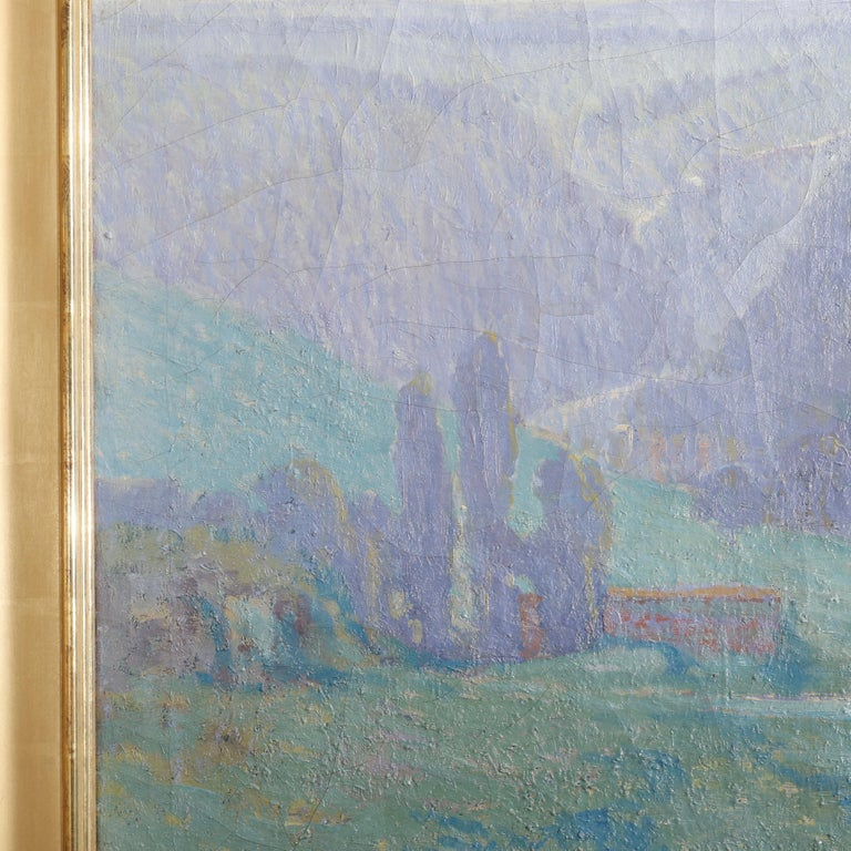 Arts and Crafts Large Arts & Crafts Impressionist Landscape Painting by Geo.Elmer Browne For Sale