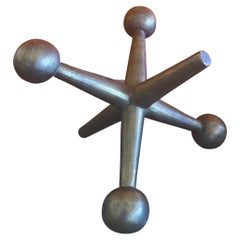 Large Atomic Jack / Jax Bookend or Doorstop in the Style of Bill Curry