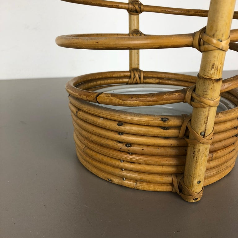 Large Midcentury Rattan Bauhaus Umbrella Stand, France, 1970s For Sale 2