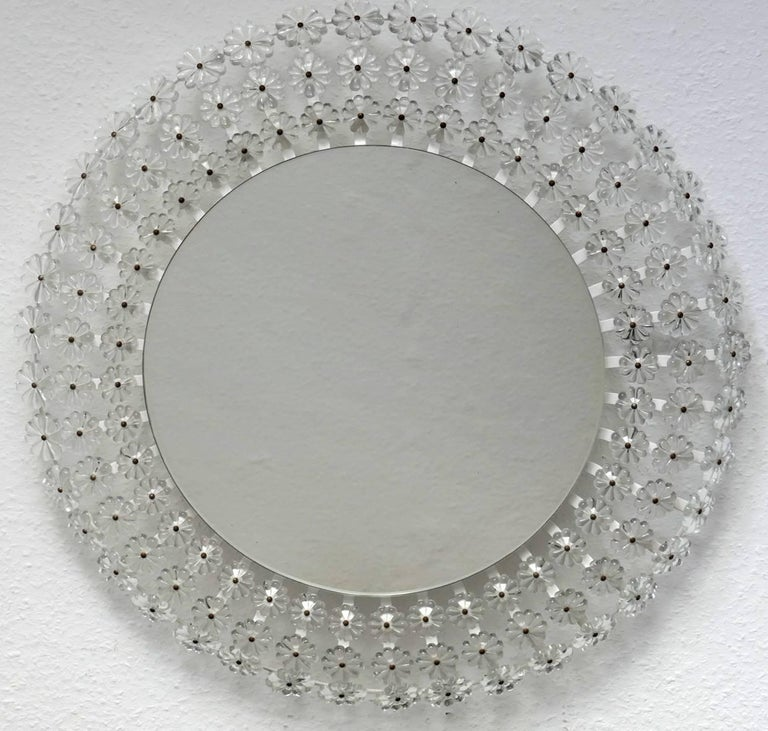 20th Century Large Austrian Illuminated Wall Mirror, 1960s For Sale