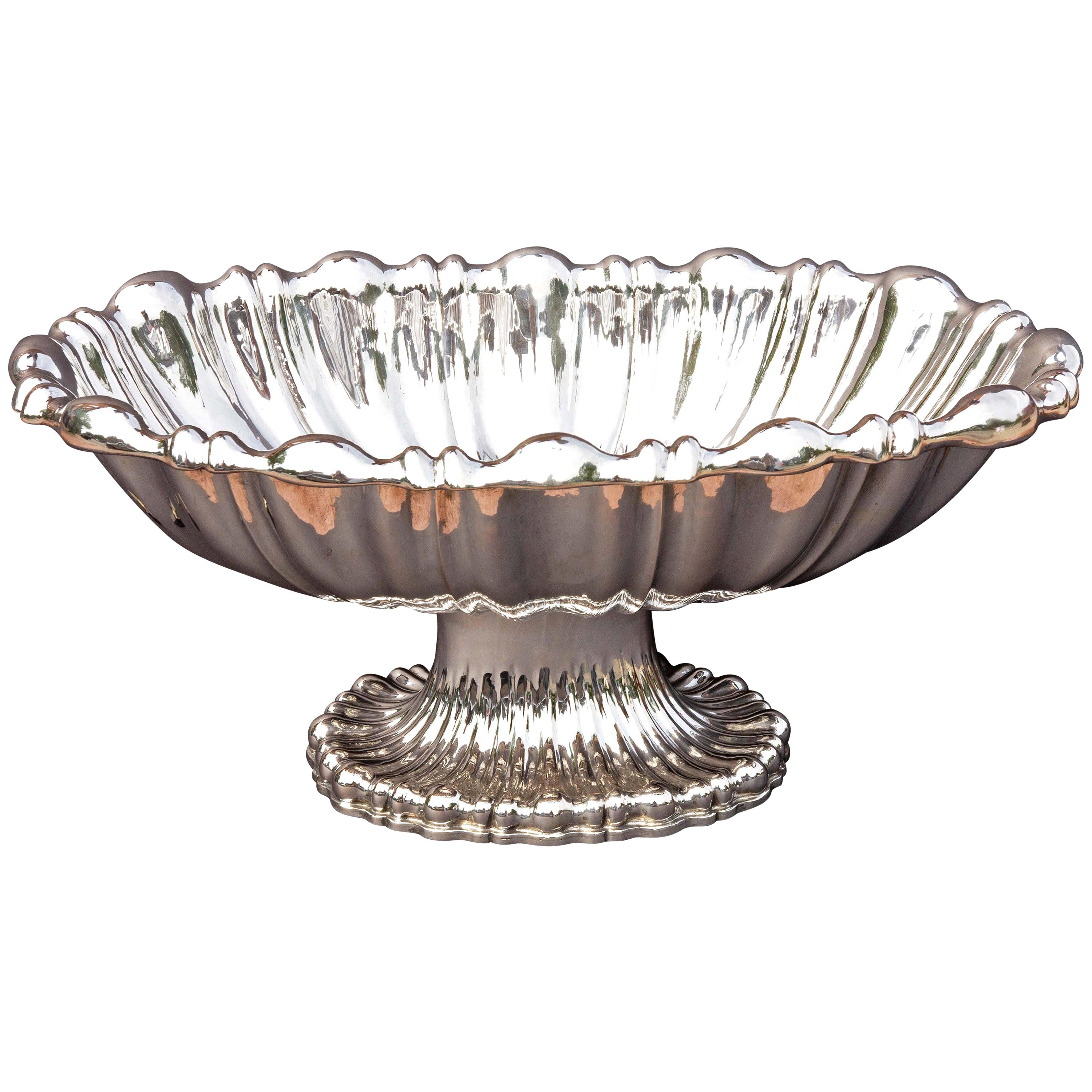 Large Austrian Silver Centerpiece or Punch  Bowl