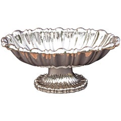 Large Austrian Silver Centerpiece Bowl