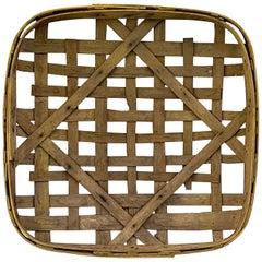 Large Authentic Antique Tobacco Basket