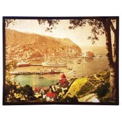 Large Avalon Santa Catalina Island California Photographic Slide, circa 1930