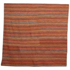 Large Azerbaijan Jajim Textile, Handwoven Flat-Woven Tapestry Rug