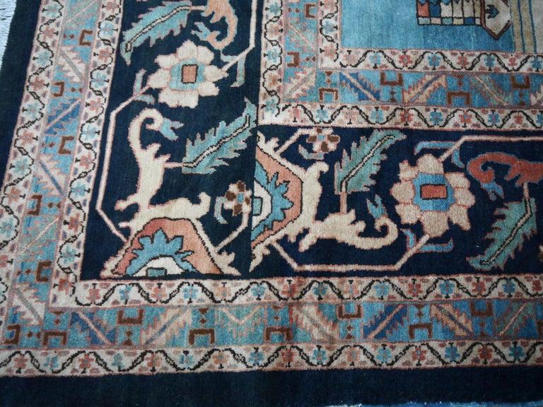 20th Century Large Azeri Heriz Rug Oversized Persian Bakhshaish Style Hand Knotted For Sale