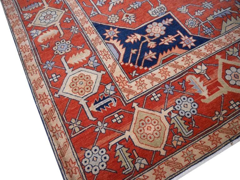 Heriz Serapi Large Azeri Heriz Rug Oversized Persian Serapi Style, Hand Knotted For Sale