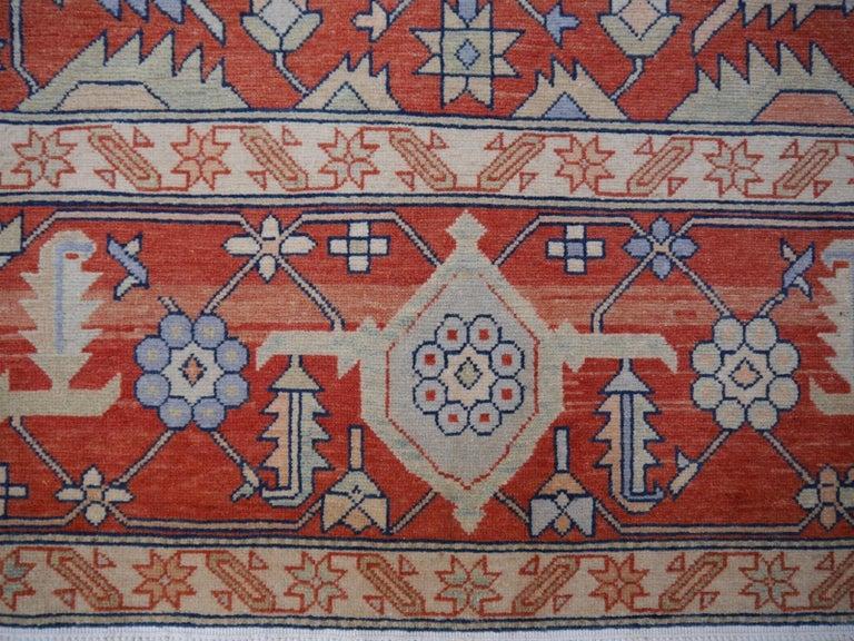 Turkish Large Azeri Heriz Rug Oversized Persian Serapi Style, Hand Knotted For Sale