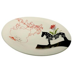 Large B & B Italia Ceramic Bowl by Marcel Wanders