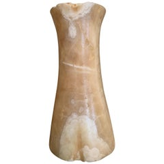 Large Bactrian Bronze Age Alabaster Column Idol