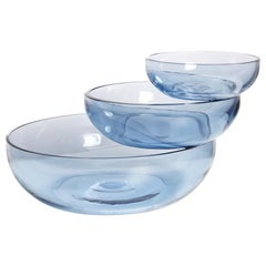 Large Balancing Glass Sculptural Bowl from Balance Collection by Joel Escalona