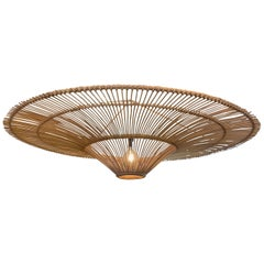 Large Umbrella Shaped Bamboo Chandelier, Indonesia, Contemporary