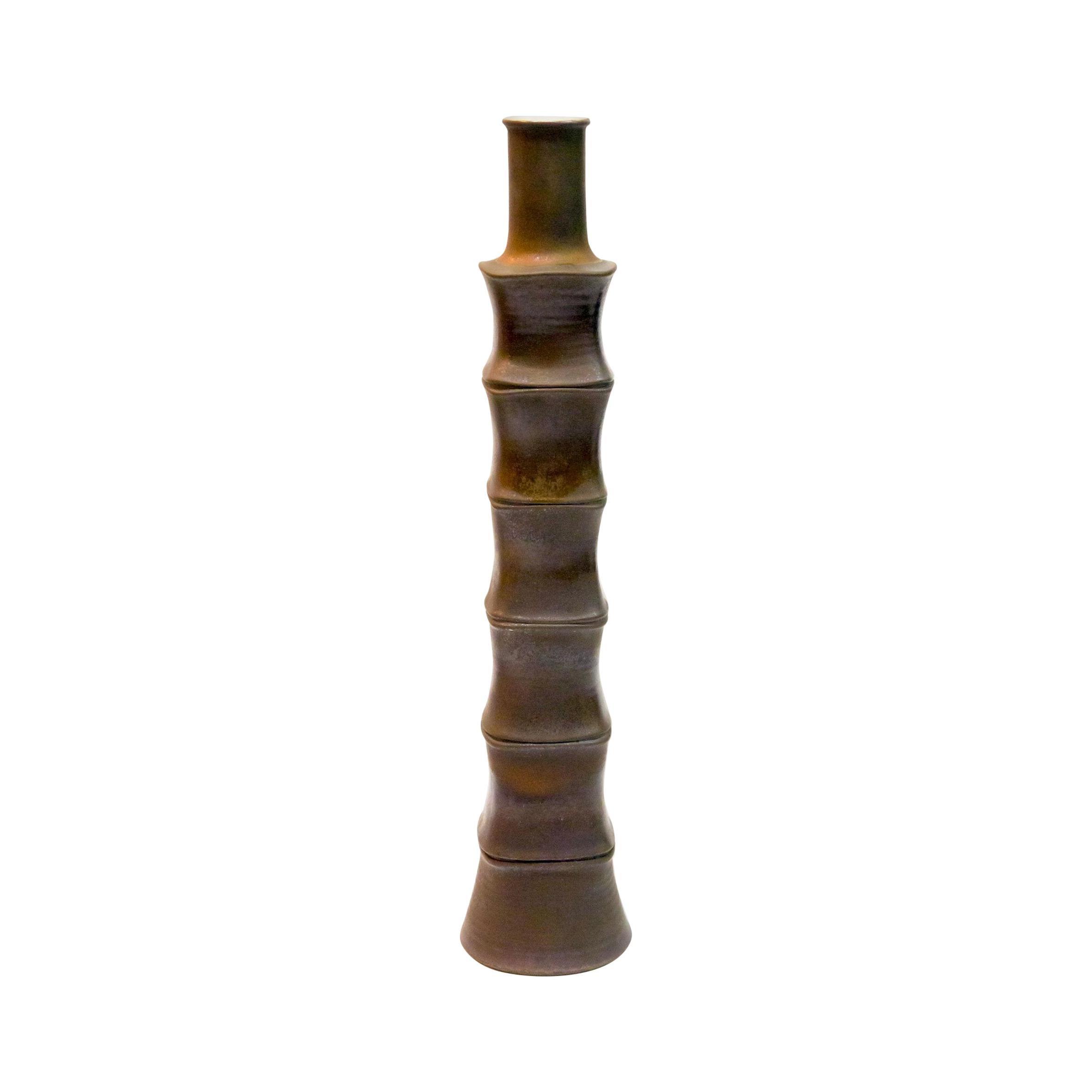 Large Bamboo Design Floor Vase, 1970s