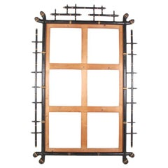 Large Bamboo Mirror Frame