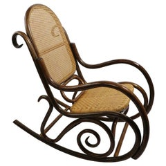 Large Bamboo Rocking Chair after Albini