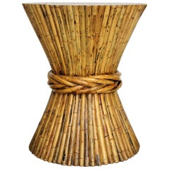 Large Bamboo Sheaf of Wheat Table