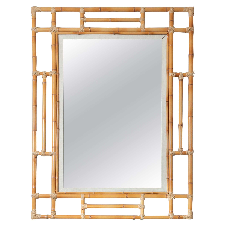 Large Bamboo Surround Mirror