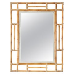Large Bamboo Surround Mirror