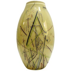 Large Barbini Murano Art Glass Vase
