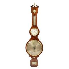 Large Clock Barometer Antique Measuring Instrument by Amadio London 1842-1851
