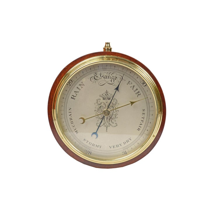 Brass Large Barometer Made in the 1950s For Sale