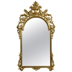 Large Baroque Style Giltwood Wall Mirror