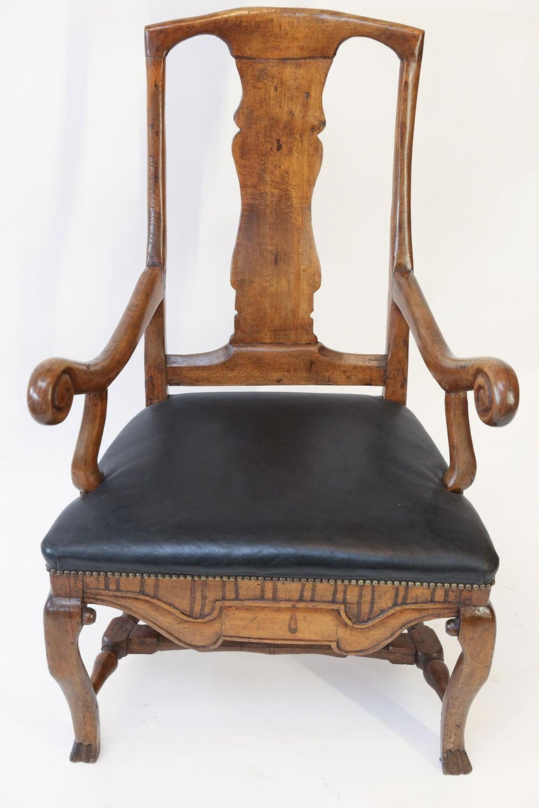 Large Baroque Swedish Armchair For Sale 5