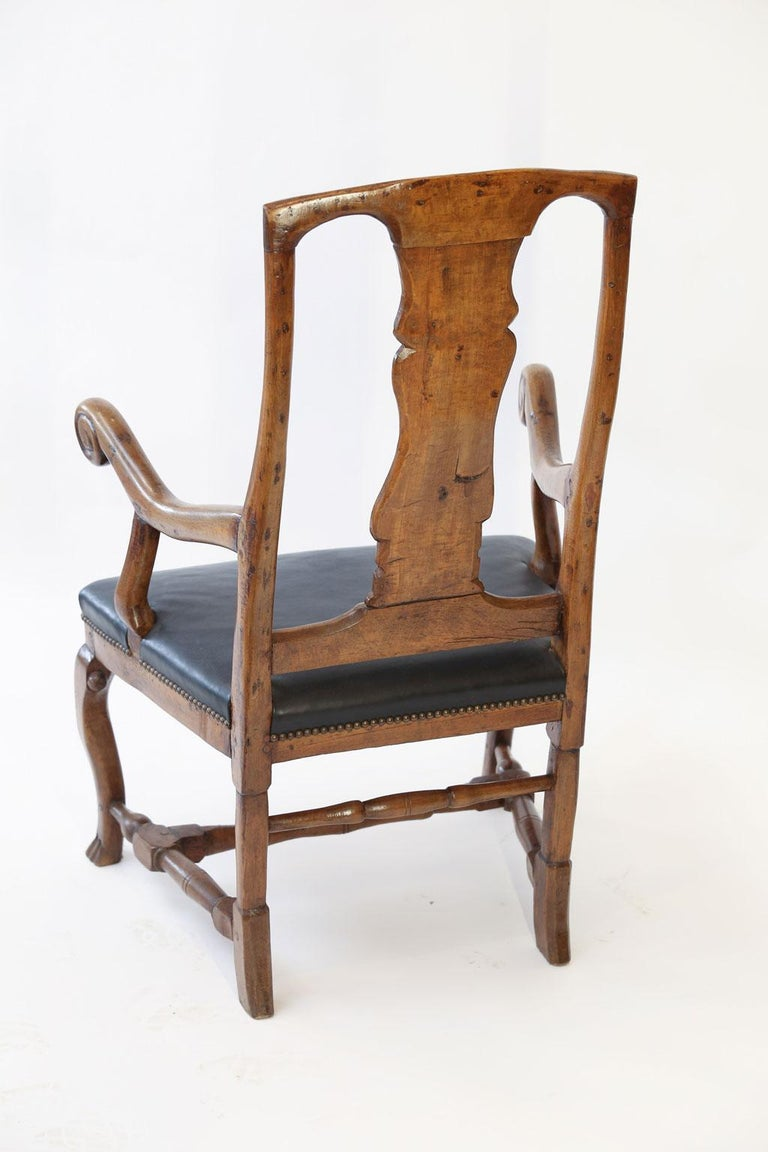 Hand-Carved Large Baroque Swedish Armchair For Sale