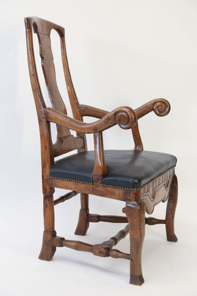 18th Century Large Baroque Swedish Armchair For Sale