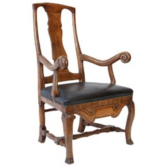 Large Baroque Swedish Armchair